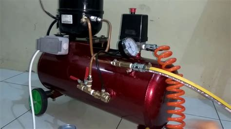 homemade silent air compressor  vacuum pump     test youtube