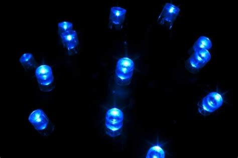 led 5mm string lights blue 70 bulbs 4 quot spacing yard