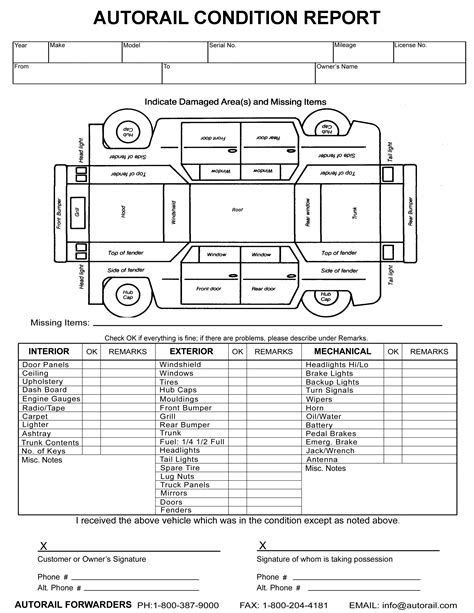 Image Result For Vehicle Damage Inspection Form Template Car Stuff Pinterest Report Car Inspection Form Template