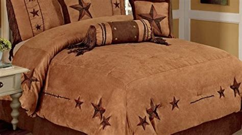 discount western bedding 7 pieces western lodge oversize comforter set camel brown