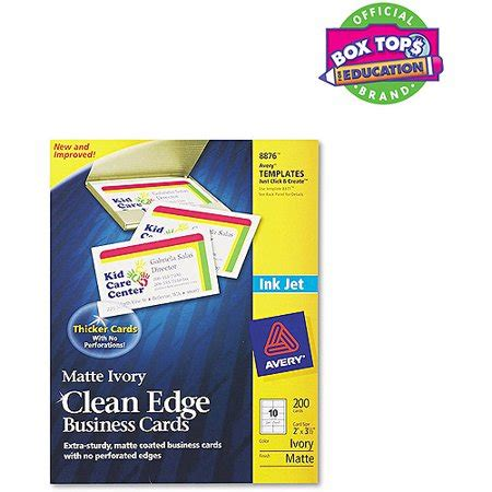 avery clean edge business cards template avery 8876 clean edge inkjet business card walmart