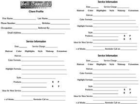 client profile card template