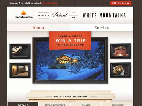 Monthly Sweepstakes - pine mountain monthly mountain sweepstakes