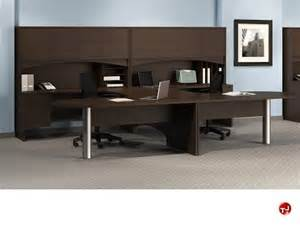 2 Person Office Desk The Office Leader 2 Person D Top U Shape Office Desk Workstation Oveheard Storage
