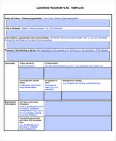 program planning template learning plan templates 10 free sles exles format