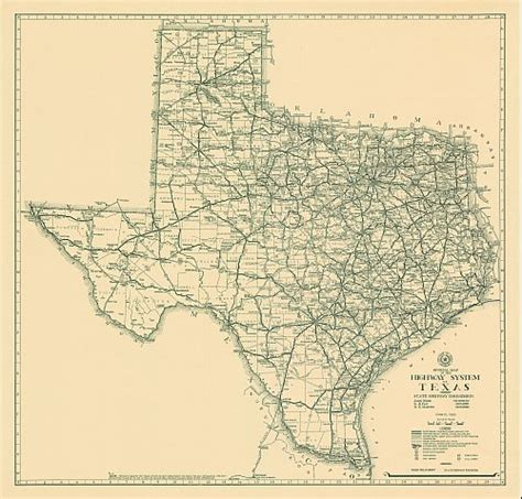 texas highway department maps texas historical highway map 1933
