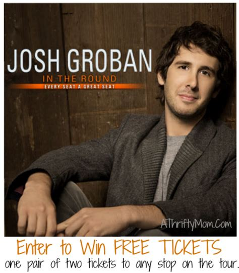 Dont Forget To Enter To Win This by Enter To Win A Pair Of Josh Groban Tickets A Thrifty
