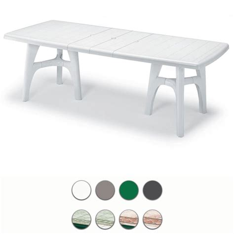 tavoli scab tavolo da giardino president tris in resina allungabile by