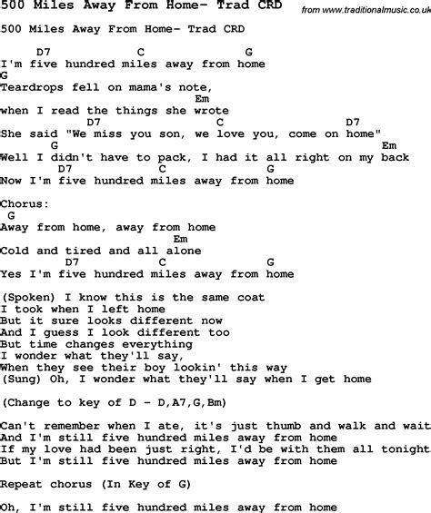 Guitar tabs 500 miles the proclaimers download