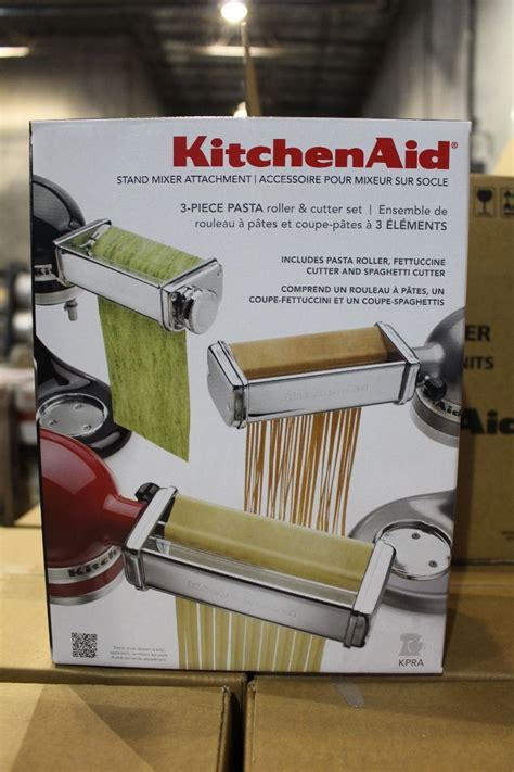 Kitchenaid 3 Pasta Roller Cutter Set kitchenaid 3pc pasta roller and cutter set stand mixer