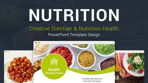Nutrition Health Creative Powerpoint Template Designs Youtube Free Health And Nutrition Powerpoint Templates
