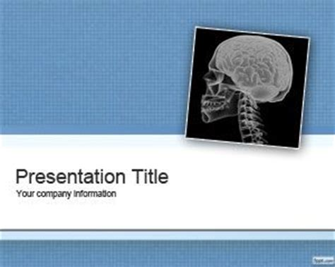 Free Schizophrenia Powerpoint Template Radiology Powerpoint Template