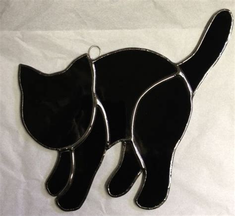 stained glass cat 68 best stain glass halloween images on pinterest