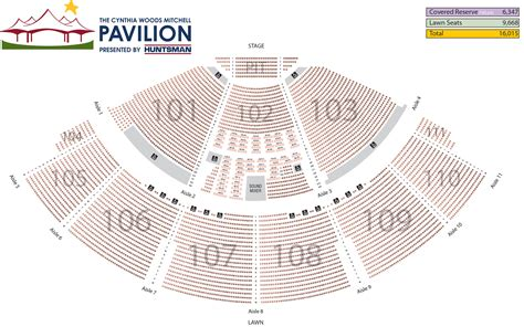 cynthia woods mitchell pavilion seating chart the