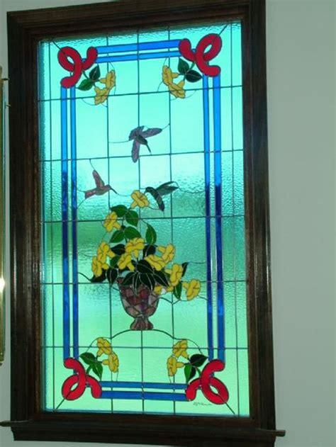 tiffany style hummingbird l tiffany style hummingbird stained glass window by linda
