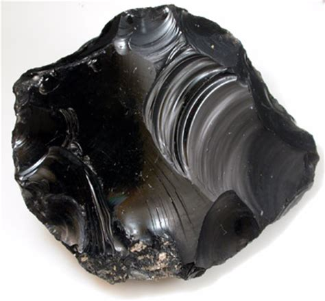 photographs of mineral no. 22788: obsidian from vulcano
