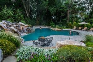 Custom Outdoor Fireplaces - photo gallery of swimming pools ponds fountains waterfalls amp spas