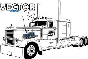 how to draw peterbuilt trucks