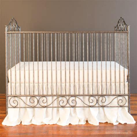 Bratt Decor Wrought Iron Crib by Casablanca Crib Pewter
