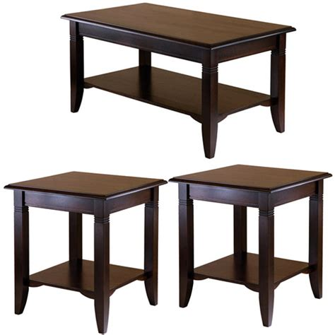 Nolan Coffee Table & End Tables Value Bundle, Cappuccino   Walmart.com