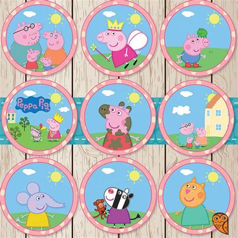 printable images of peppa pig printable peppa pig cupcake toppers peppa by
