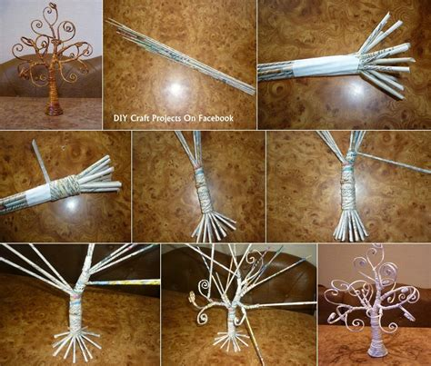 New Paper Craft - how to make a decorative tree out of newspaper diy craft