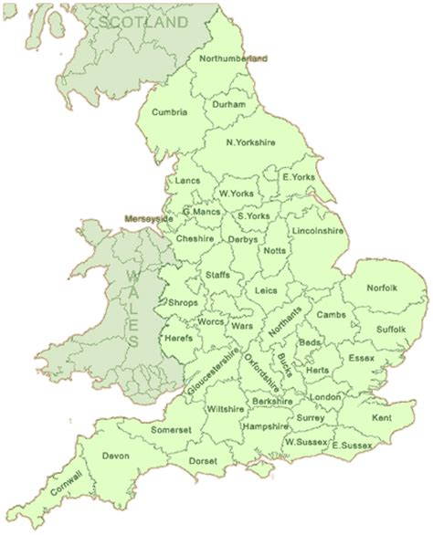 map of counties of local glaziers by counties and towns in the uk