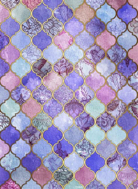 moroccan wallpaper pinterest royal purple mauve indigo decorative moroccan tile
