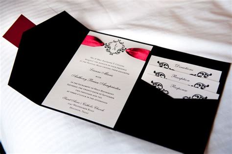 Black Wedding Invitations by I Was Helping A Friend Search For Wedding Invitations