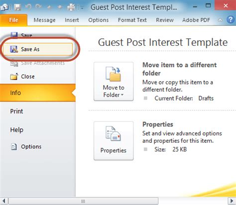 saving a template in outlook save time with an outlook email template email