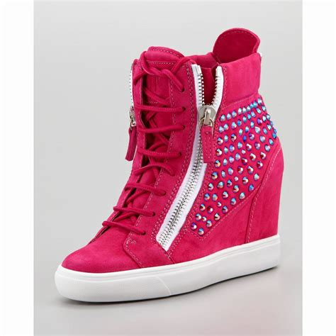 high heel sneakers giuseppe zanotti high heels suede wedge sneakers