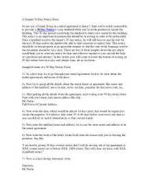 30 Day Letter To Vacate by 30 Day Notice To Vacate Letter Real Estate Forms