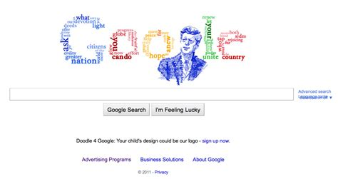 how to use doodle today today s doodle f kennedy s inaugural address