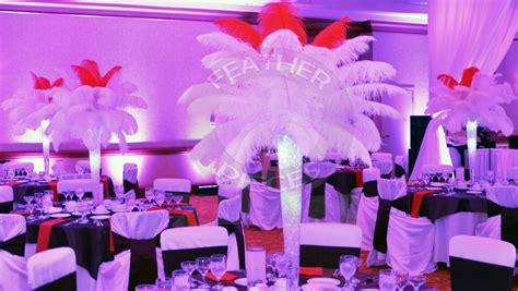 ostrich feather centerpieces for rent rent ostrich feather centerpieces feather centerpieces