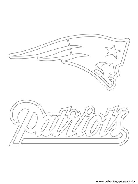nfl symbols coloring pages new england patriots logo football sport coloring pages