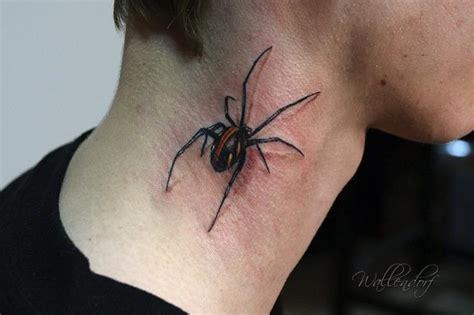 tattoo 3d spinne tatuaje cuello ara 241 a 3d por lacute tattoo