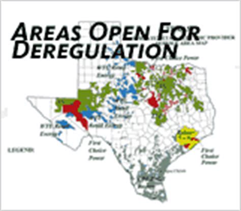 texas deregulation map capitol area energy