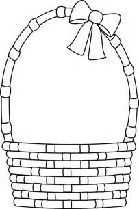 easter basket coloring pages printable easter basket clipart best