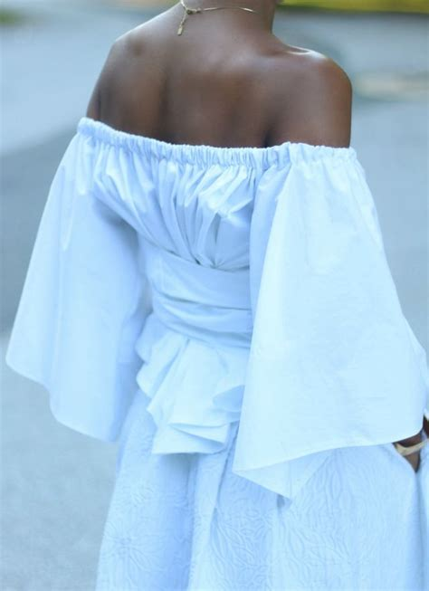 Hq 11428 Bow Shoulder Top 2 diy the shoulder midi with free pattern beaute j adore bloglovin