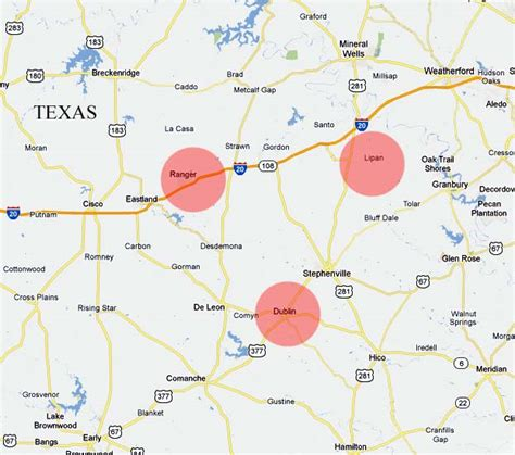 lipan texas map ufos lights in the texas sky dublin ranger and lipan