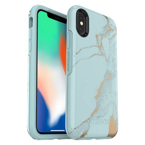 otterbox apple iphone x xs symmetry teal marble target