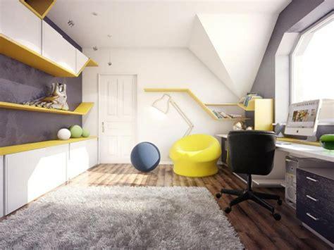 chambre enfant jaune chambre ado au design d 233 co sympa et original design feria