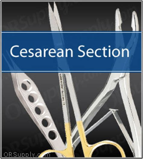 c section tools cesarean section surgical instrument set