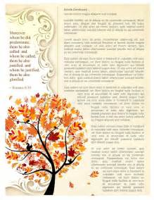 Fall Newsletter Templates by Free Fall Newsletter Templates Fall Forest