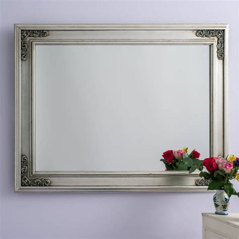 Handcrafted Mirrors - silver pewter large mirror by crafted mirrors
