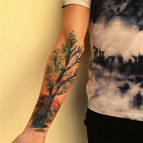 sakura tattoo black and white sleeve tattoo steunk 25 best ideas about forearm tree tattoo on pinterest