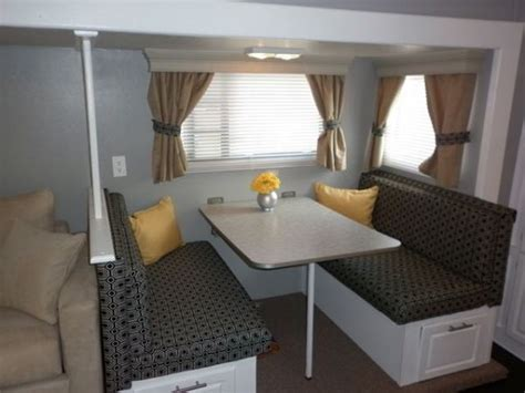 travel trailer decorating ideas 16 year old jayco travel trailer gets interior decor makeover