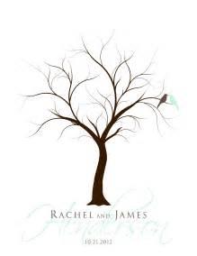 guestbook tree template fingerprint tree wedding guest book wedding present