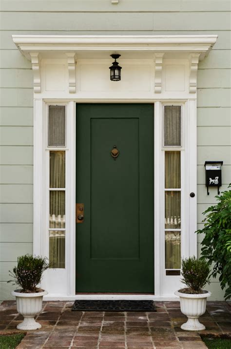 ten  front door colours   house