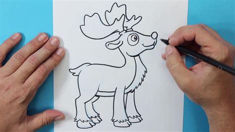 imágenes de navidad para dibujar fáciles c 243 mo dibujar un reno navidad how to draw a reindeer